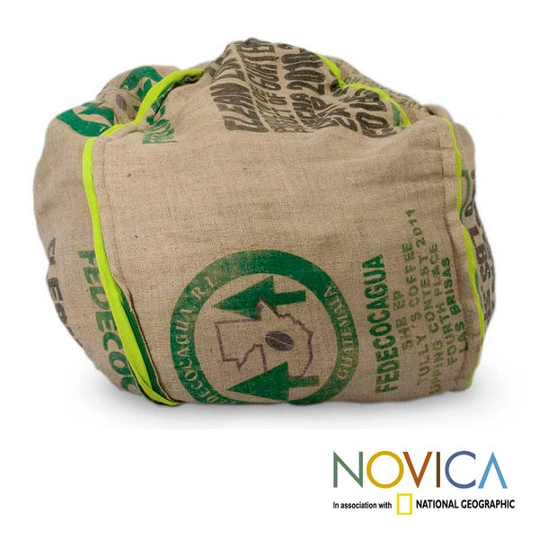 Handcrafted Jute 'Coffee Comfort' Beanbag Cover (Guatemala)