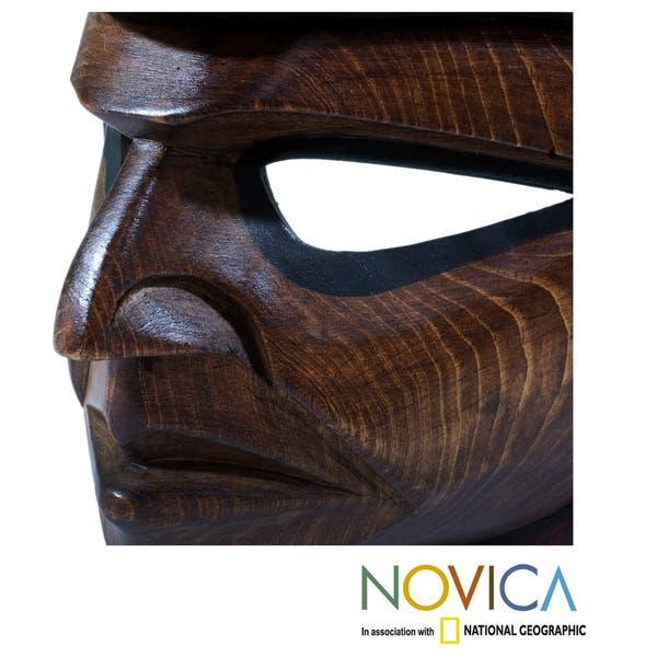 Shop Handcrafted Pinewood Quetzal Man Mask Guatemala