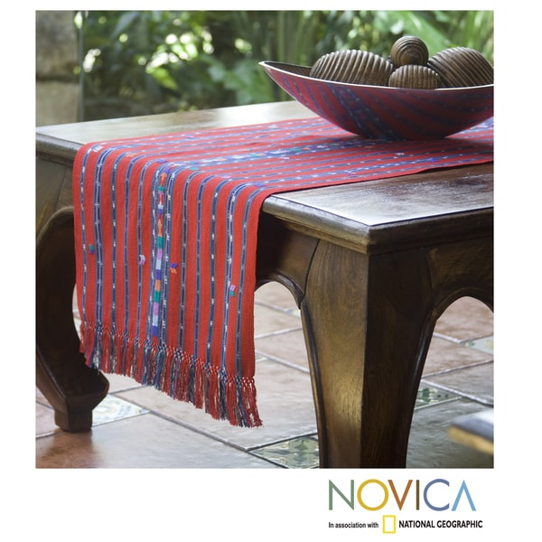 Handcrafted Cotton 'Guatemala Fantasy' Table Runner (Guatemala)