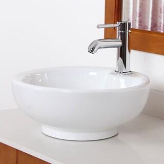 Elite Grade A Ceramic Round Vessel-style Bathroom Sink
