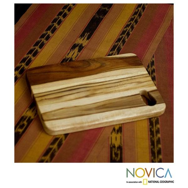 Handcrafted Teakwood  'Raindrop' Chopping Board (Guatemala)