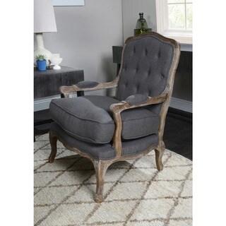 Eddie Tufted Black Arm Chair by Kosas Home