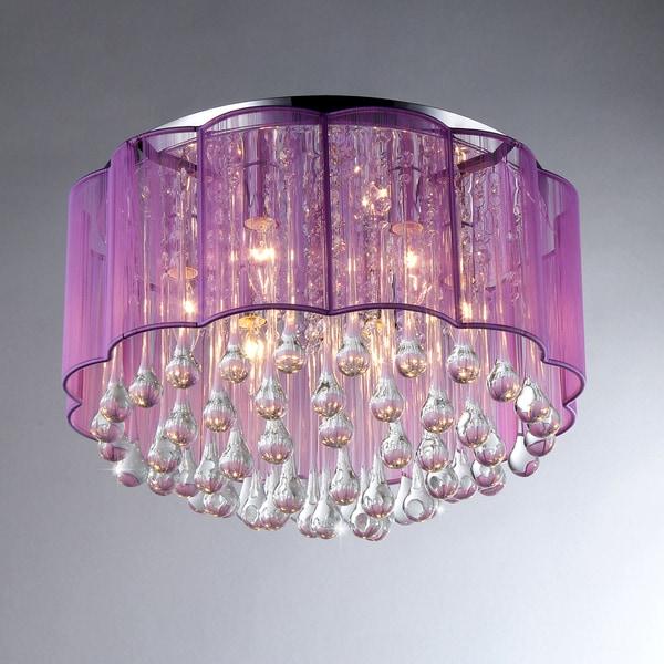 Erida 6-Light Chrome Ceiling Lamp