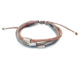 Handcrafted Silver Accent 'Modern Hill Tribe' Bracelet (Thailand)
