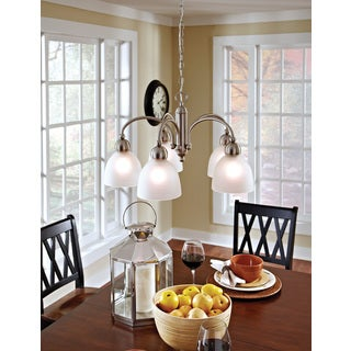 Sea Gull Lighting Metropolis 5-light Brushed Nickel Chandelier