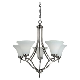Sea Gull Lighting Montreal 5-light Antique Brushed Nickel Chandelier