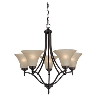 Sea Gull Lighting Montreal 5-light Antique Burnt Sienna Chandelier