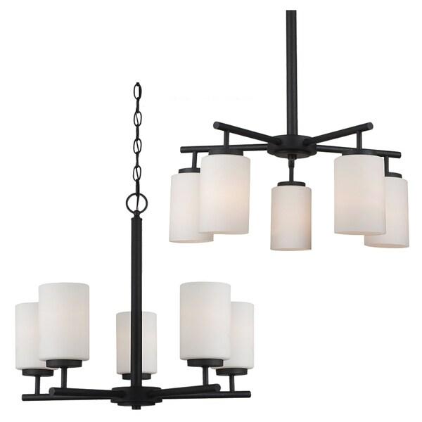 sea gull lighting oslo 5light blacksmith chandelier - Sea Gull Lighting