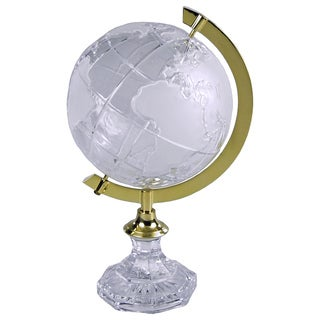 JT Lighting Crystal Polished Brass Ring Globe