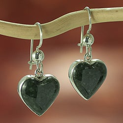 Sterling Silver 'Love Immemorial' Jade Earrings (Guatemala)