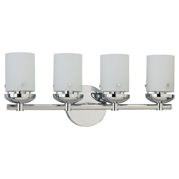 Sea Gull Lighting Four-Light Chrome Wall/ Bath Light Fixture