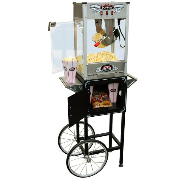 FunTime Palace Popper 8oz Hot Oil Popcorn Machine with Cart