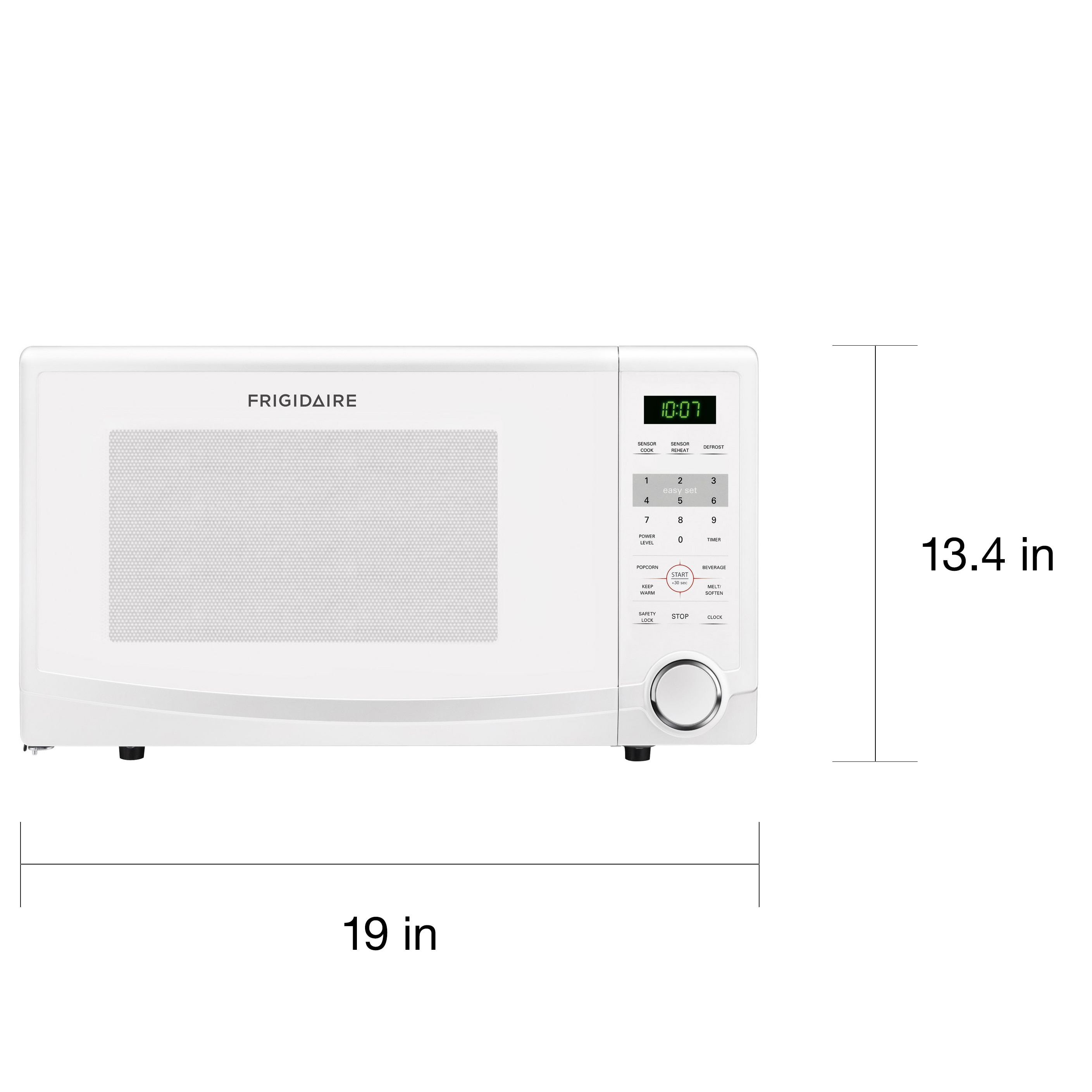 Frigidaire White Ffcm1134lw 1 Cubic Foot Countertop Microwave Oven