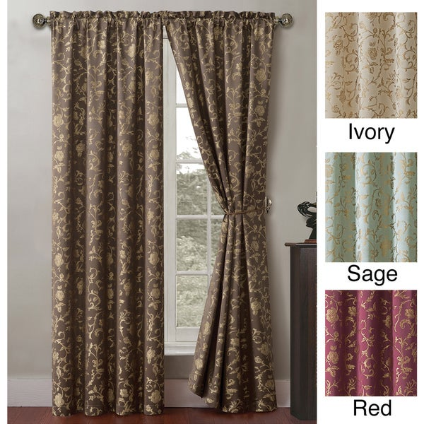 VCNY Garden Scroll 84-inch Curtain Panel Pair