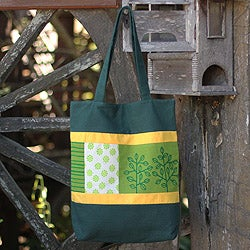 Cotton 'Love of the Forest' Batik Shoulder Bag (Thailand)