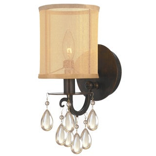 Crystorama Hampton Collection 1-light English Bronze Wall Sconce