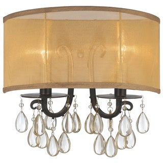 Crystorama Hampton Collection 2-light English Bronze Wall Sconce