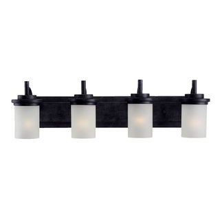Sea Gull Lighting Four Light Blacksmith Vanity Fixture