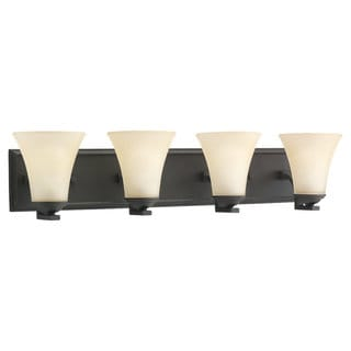 Sea Gull Lighting Black Steel Four-Light Bath Bar