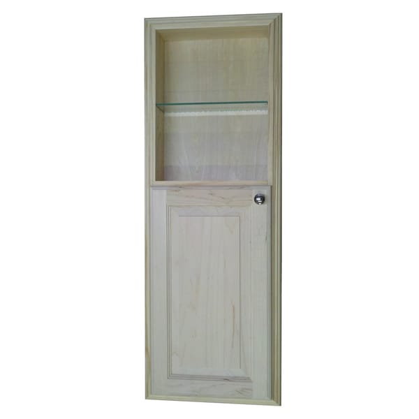 42 Inch Recessed In The Wall Baldwin Medicine Cabinet With 18 Inch Open  Shelf