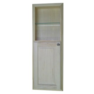 42-inch Recessed in the Wall Baldwin Medicine Cabinet with 18-inch Open Shelf