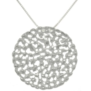 Carolina Glamour Collection Sterling Silver Textured Modern Necklace