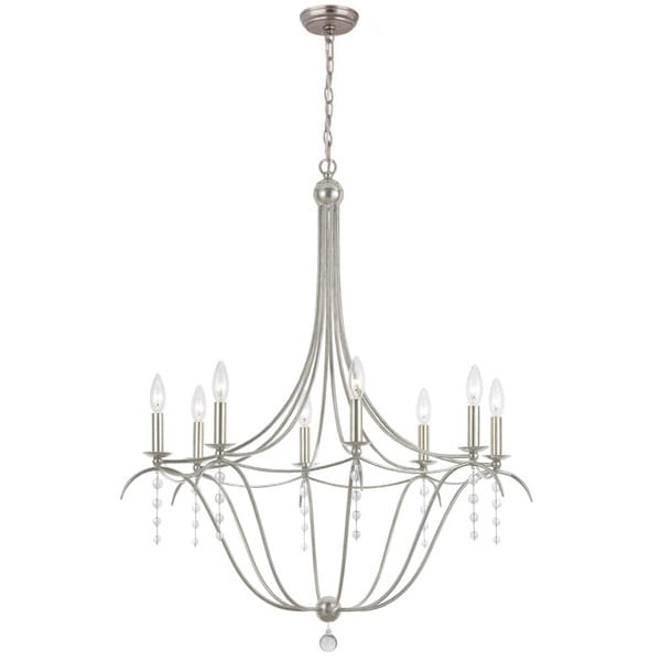 Crystorama Metro Collection 8-light Antique Silver Chandelier