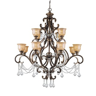 Crystorama Norwalk 12-light Chandelier in Bronze Umber