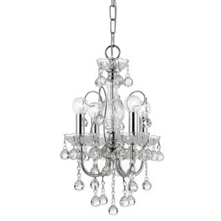 Crystorama Imperial 4-light Crystal Chandelier in Chrome