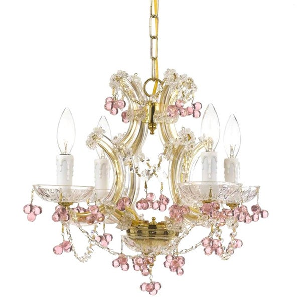 Shop crystorama maria theresa collection 4 light gold crystal crystorama maria theresa collection 4 light gold crystal chandelier aloadofball Image collections