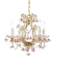Crystorama Maria Theresa Collection 4-light Gold/ Crystal Chandelier