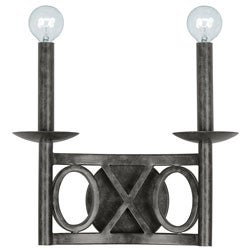 Crystorama Odette 2-light Wall Sconce in English Bronze