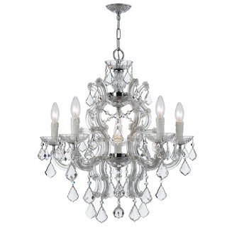 Crystorama Maria Theresa Collection 6-light Chrome Chandelier
