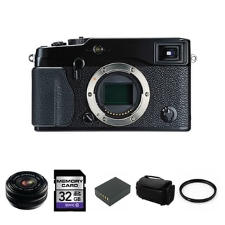 Fujifilm X-Pro1 16.3MP Digital SLR Camera with 18mm Lens Bundle