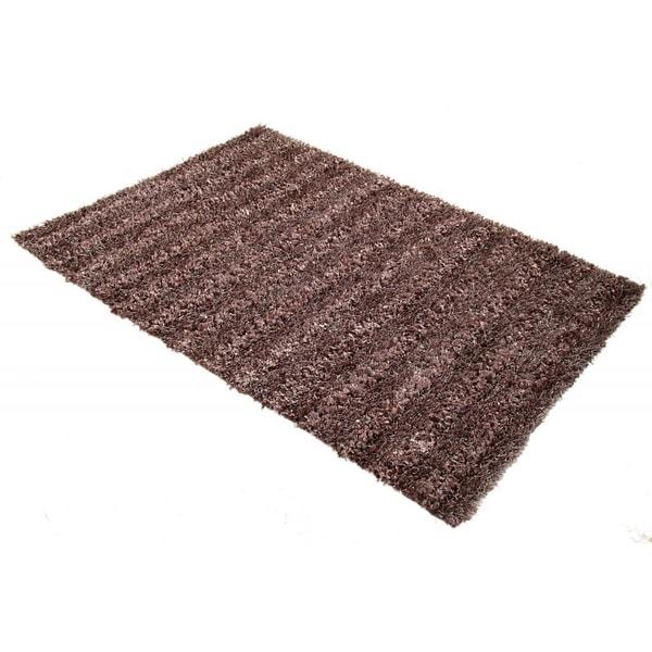 Hand-woven Seabury Shag Amethyst Area Rug (5' x 7') - 5' x 7'