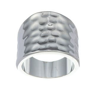 City by City City Style Silvertone Polished and Hammered Ring|https://ak1.ostkcdn.com/images/products/7857580/7857580/City-Style-Silvertone-Polished-and-Hammered-Ring-P15243552.jpg?impolicy=medium