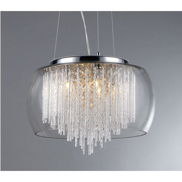 39 Odysseus 39 Chrome And Crystal 5 Light Chandelier Free Shipping Today 15243617