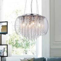 Warehouse of Tiffany Odysseus 5-light Chrome and Crystal Chandelier