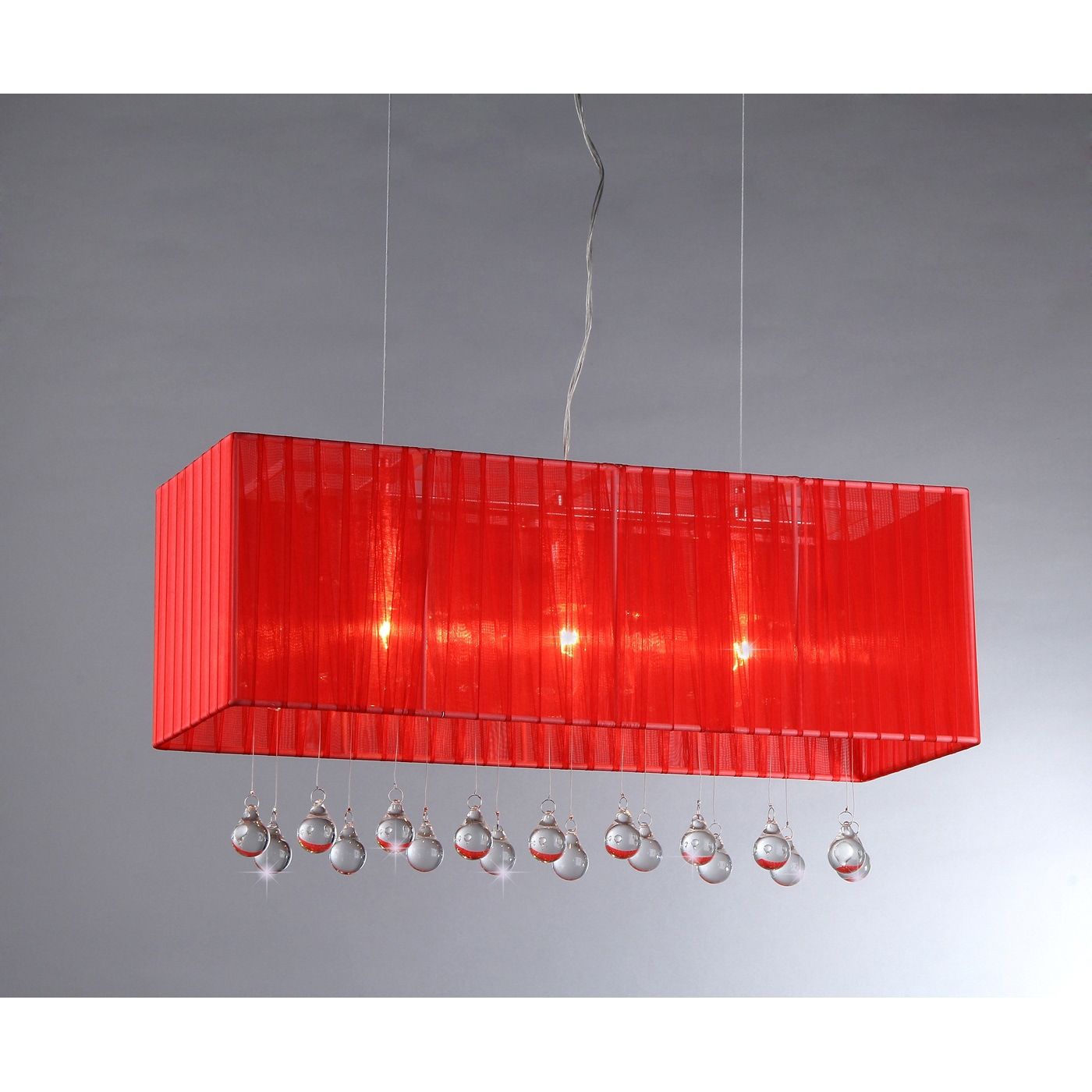 Warehouse of Tiffany Fates Wine Red Fabric Chandelier (Fa...
