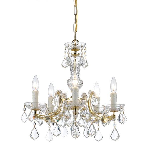 Maria Theresa 5-light Brass Chandelier