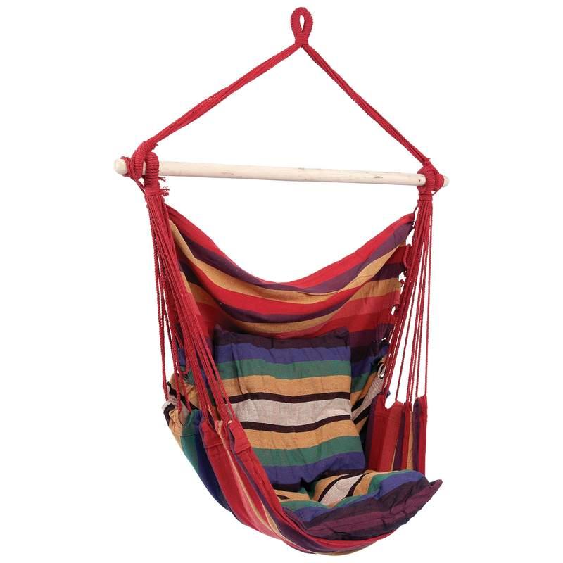 Club Fun Multi Hanging Hammock Rope Chair (Multi), Patio ...