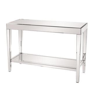 Allan andrews mirrored console table with bottom shelf free shipping today - Mirrored console table overstock ...