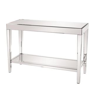 Allan Andrews Mirrored Console Table With Bottom Shelf