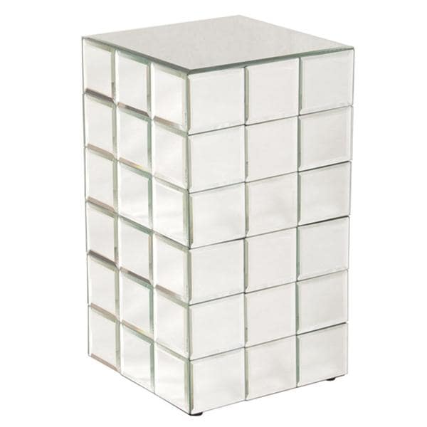 Shop Allan Andrews Medium Mirrored Cube Accent Table