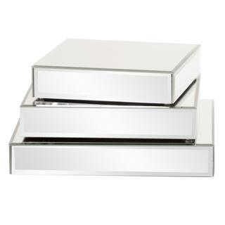Square Mirrored Display Platforms (Set of 3)