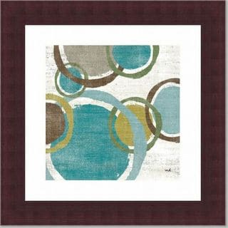 'Vintage Bubbles II' Geometric Walnut Framed Print