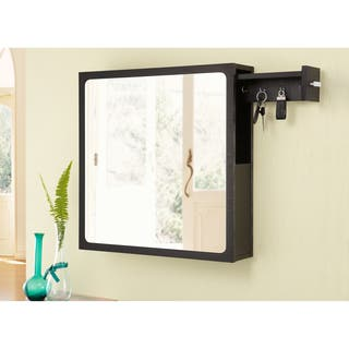 Furniture of America All-in-One Multi-storage Black Hanging Mirror|https://ak1.ostkcdn.com/images/products/7857872/P15243754.jpg?impolicy=medium