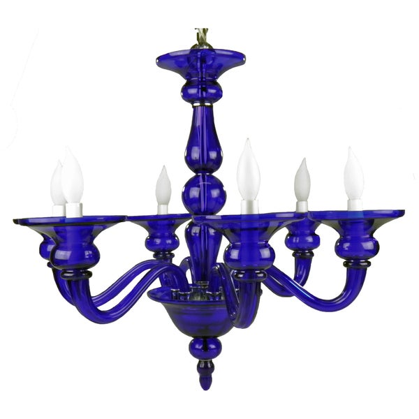 Odetta Blue 6-light Chandelier