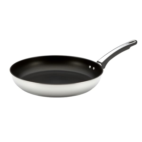 Farberware High Performance Nonstick Stainless Steel 12-inch Skillet