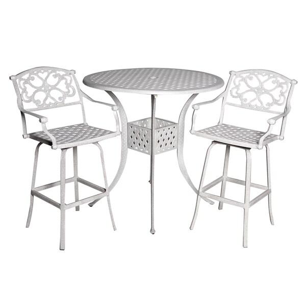 Fly Sandstone Cast Aluminum 3-piece Patio Table Set